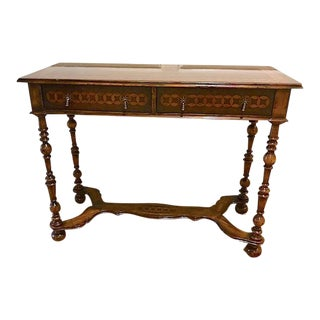 "English Traditional Jonathan Charles ""Mereworth"" Console Table"