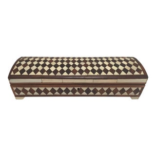 Vizagapatam Anglo-Indian Rectangular Box Inlaid With Bone and Sandalwood