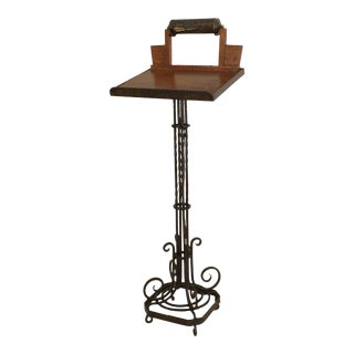 French Art Deco Wrought Iron Lectern For Sale