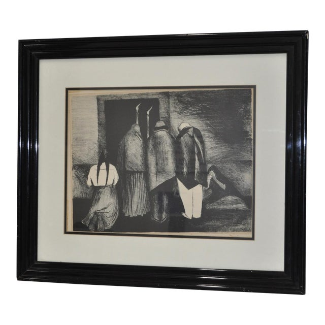 "Jose Clemente Orozco ""The Requiem"" Pencil Signed Lithograph c.1928 - Image 1 of 8"