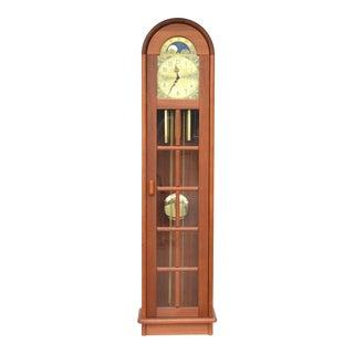 Danish Modern Westminster Teak Longcase Clock