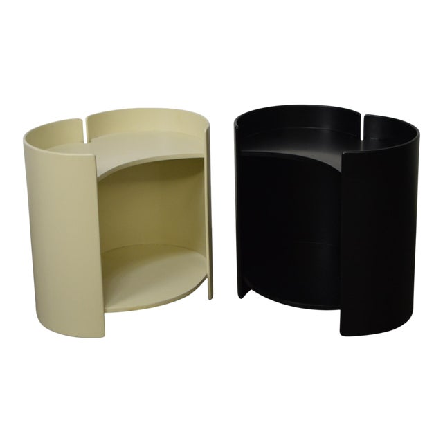 """""""Gea"""" Pair of Side Tables by Kazuhide Takahama for Gavina - Image 1 of 11"""