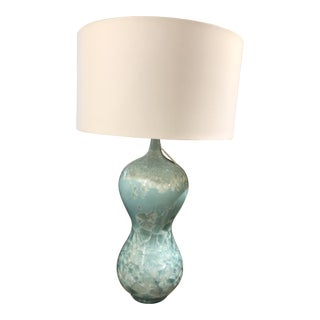 Blue Sea Table Lamp with Shade For Sale