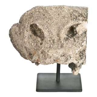 LaRonda Limestone Architectural Fragment On Stand For Sale