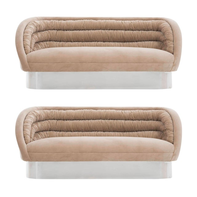 Vladimir Kagan Crescent Sofas For Sale