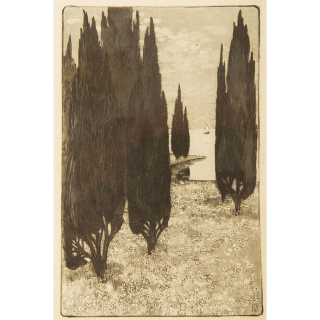 Black Marianne Hitschmann-Steinberger Etching From 1900 Set of Two For Sale - Image 8 of 10