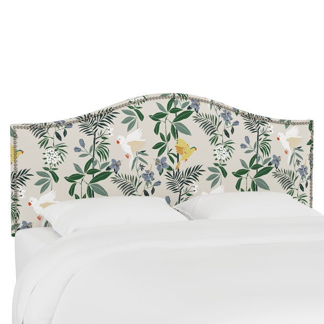 Queen Headboard, Belize Chinoiserie Cream For Sale In Chicago - Image 6 of 6