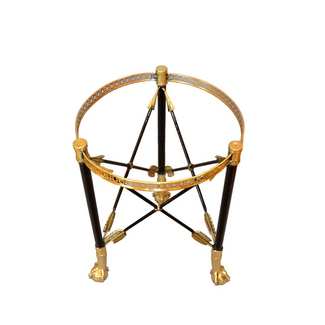 Hollywood Regency Round Bronze Glass Coffee Table Ball and Claw Feet For Sale - Image 3 of 13
