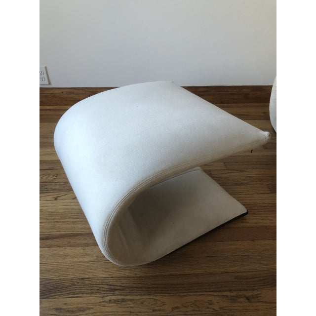 Canvas Sculptural Zen Chair and Ottoman by Ligne Roset For Sale - Image 7 of 9