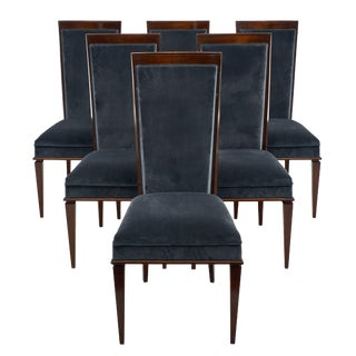 Dominique Style Art Deco French Dining Chairs For Sale