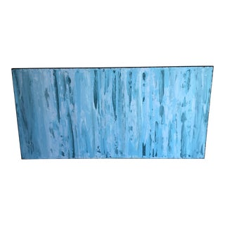 Contemporary Abstract Painting in Blues For Sale