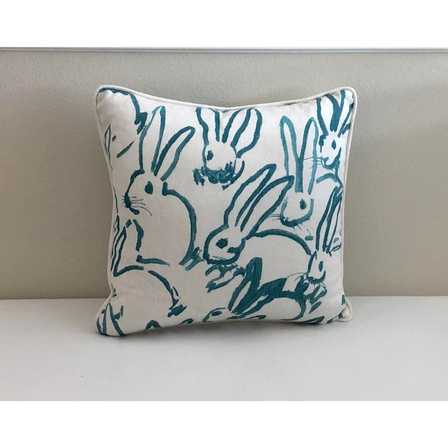 Lee Jofa Groundworks fabric designed by artist Hunt Slonem. Adorable bunnies in shades of turquoise and white. 100% linen....