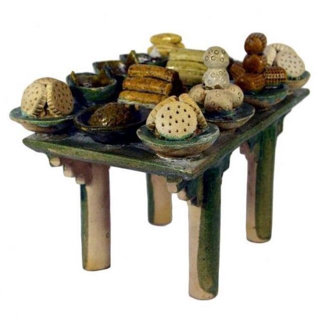 Asian Ming Dynasty Terracotta Funeral Table from China, 15th-16th Century For Sale - Image 3 of 10