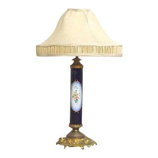 Antique Porcelain Sèvres Lamp For Sale