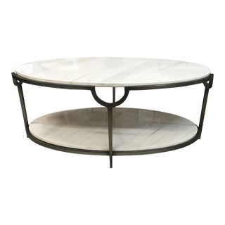 Contemporary Morello Marble Coffee Table For Sale