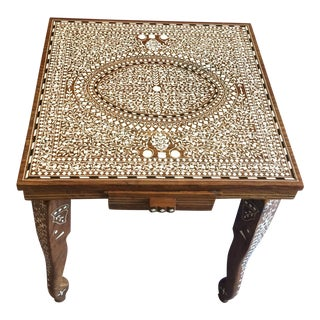 Moorish Style Inland Carved Side Table