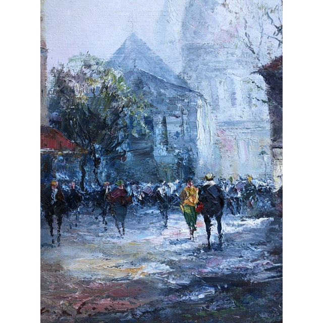 Traditional Original Impressionist Mid Century Painting of Venice Framed For Sale - Image 3 of 8