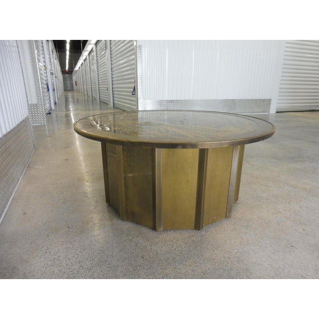 1980s 1980's Vintage Mastercraft Bernhard Rohne Musical Note Coffee Table For Sale - Image 5 of 9