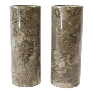 Stone Vases - a Pair For Sale