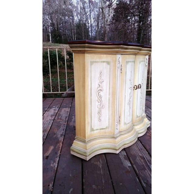 1970s Mediterranean Drexel Heritage Et Cetera 2 Door Painted Console Cabinet For Sale - Image 6 of 13
