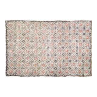 """Vintage Turkish Anatolian Hand Knotted Organic Wool Fine Weave Rug,4'7""""x6'10"""" For Sale"""