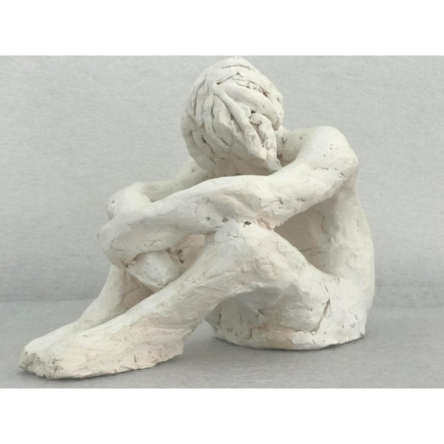 Seated Man Abstract Pottery Figure - Image 2 of 5