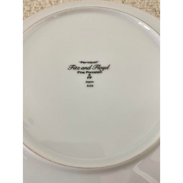 """Vintage Fitz and Floyd Parrot """"Perroquet"""" Dessert or Salad Plates. Set/6 For Sale In Miami - Image 6 of 7"""