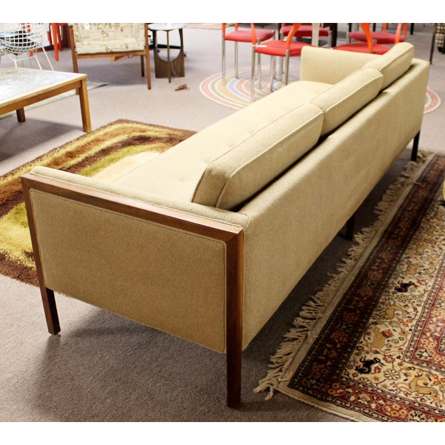 Mid Century Modern Sofa Wood Framed Probber Knoll Attributed 1960s For Sale In Detroit - Image 6 of 10