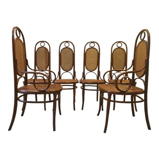 19th Century Early Austrian Vienna Thonet Set Chairs- Set of 6 For Sale