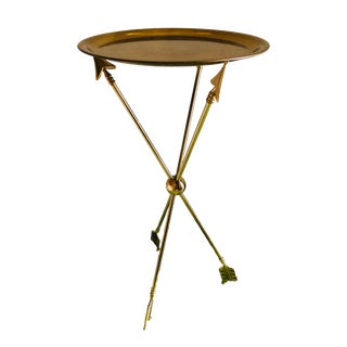 1960s Vintage French Maison Jansen Brass Arrow Table