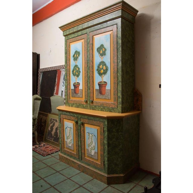 Whimsical Hand-Painted Solarium or Garden Room Cabinet - Image 7 of 10