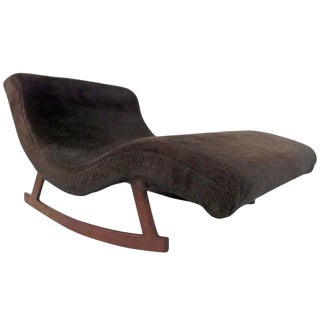 Mid-Century Style Lounge Wave Rocker After Adrian Pearsall For Sale