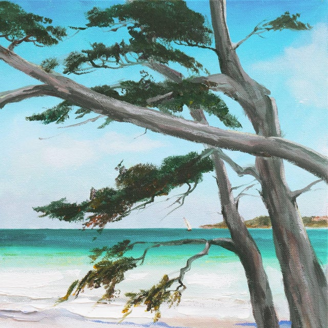 Impressionist 'Carmel Beach, Low Tide' by Kathleen Murray, California Woman Artist For Sale - Image 3 of 9