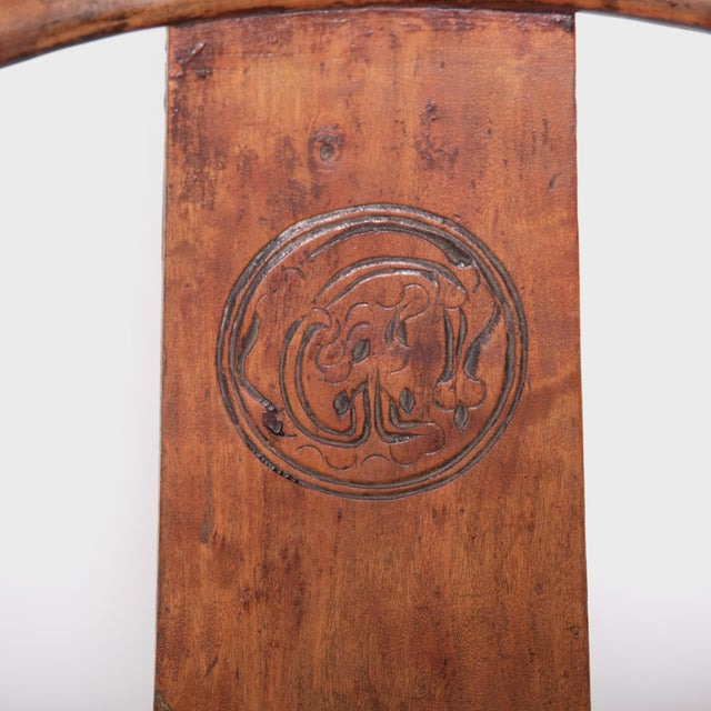 19th Century Chinese Bentwood Roundback Chair For Sale In Chicago - Image 6 of 7
