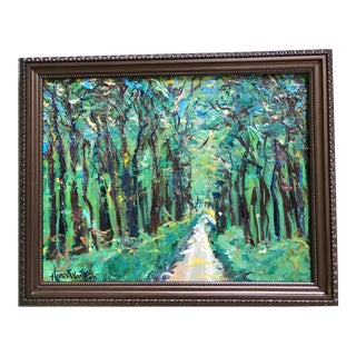 It's a Jungle Out There Original Oil Painting by Nancy T. Van Ness, Framed For Sale