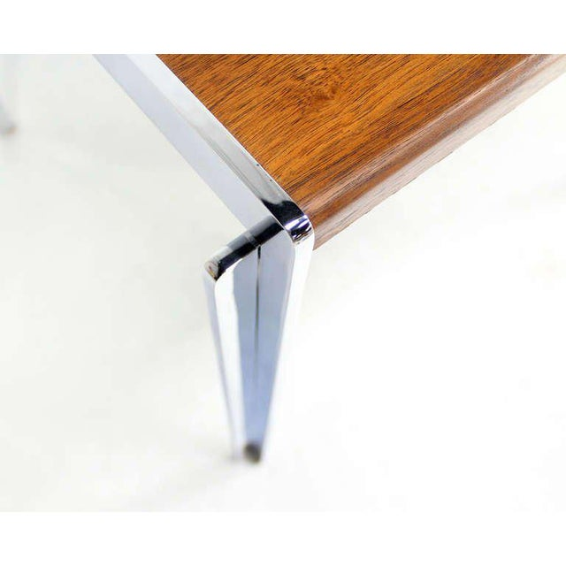 Mid-Century Modern Mid-Century Modern Stow Davis Walnut and Chrome Coffee Table For Sale - Image 3 of 11