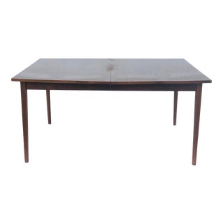 Mid-Century Modern Dining Table With Leaf For Sale