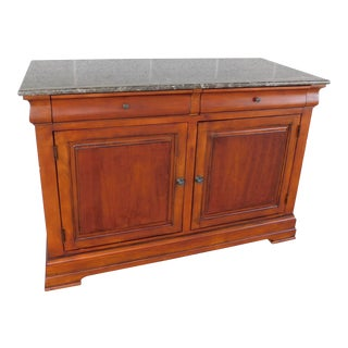 Ethan Allen Townhouse Collection Marble Top Media Cabinet For Sale