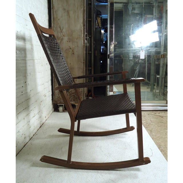 Early 21st Century Mid Century Modern Style Rocker For Sale - Image 5 of 10