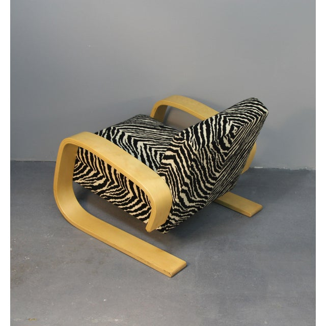 Alvar Aalto Tank Chair With Original Zebra Fabric - Image 6 of 7