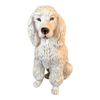 Vintage Italian Mid-Century Ceramic Poodle Figurine For Sale