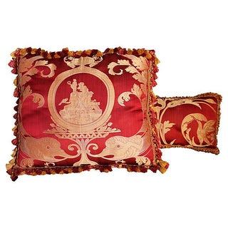Scalamandre Neoclassic Style Pillows - Set of 2 For Sale