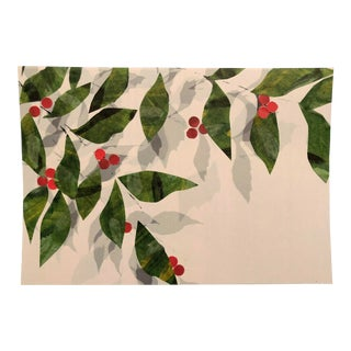 Leaves and Berries Original Mixed Media Art by Nancy Smith For Sale