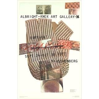 Robert Rauschenberg, Albright-Knox Art Gallery, Offset Lithograph, 1976 For Sale