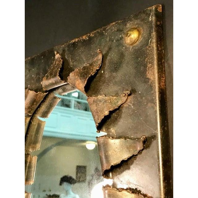 1970s Brutalist Eye Form Mirror For Sale - Image 5 of 9