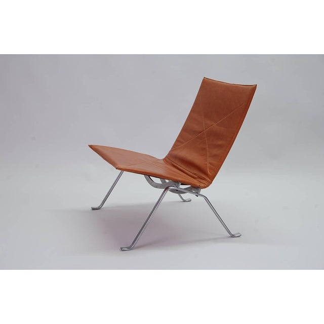 Brown 1960s Vintage Early Poul Kjaerholm Pk22 Lounge Chair For Sale - Image 8 of 8