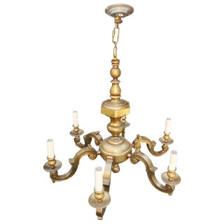 1960s Classical Brass Chandelier For Sale