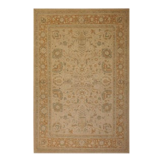 Contemporary Ziegler Sun-Faded Wool Rug -9'11 X 13'5 For Sale