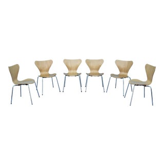 21st Century Arne Jacobsen Style Series 7 Italian Chairs- Set of 6 For Sale