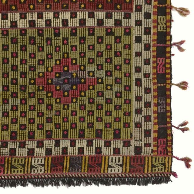 Rug & Relic, Inc. Vintage Turkish Embroidered Kilim | 5'5 X 5'7 For Sale - Image 4 of 5